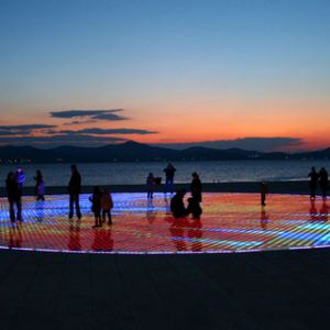 Greeting to the Sun at night Zadar