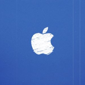 Modré Apple logo